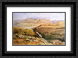 Petra 24x18 Black or Gold Ornate Framed and Double Matted Art Print by Edward Lear