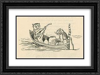 The Owl and the Pussycat 24x18 Black or Gold Ornate Framed and Double Matted Art Print by Edward Lear