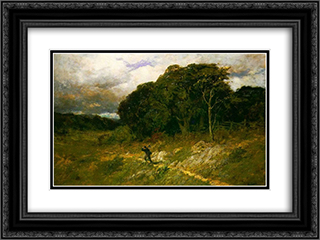 Approaching Storm 24x18 Black or Gold Ornate Framed and Double Matted Art Print by Edward Mitchell Bannister