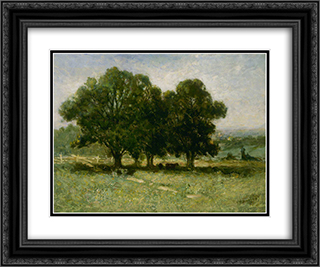 Landscape 24x20 Black or Gold Ornate Framed and Double Matted Art Print by Edward Mitchell Bannister