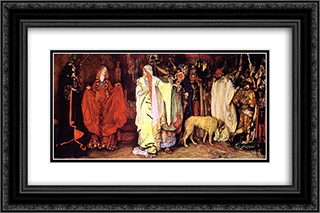 King Lear Cordelia's Farewell 24x16 Black or Gold Ornate Framed and Double Matted Art Print by Edwin Austin Abbey