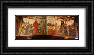 Quest for the Holy Grail 24x14 Black or Gold Ornate Framed and Double Matted Art Print by Edwin Austin Abbey