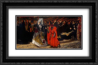 Richard, Duke of Gloucester, and the Lady Anne 24x16 Black or Gold Ornate Framed and Double Matted Art Print by Edwin Austin Abbey