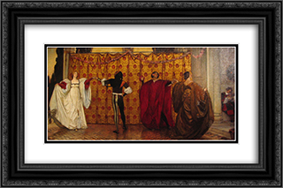 Une pavane 24x16 Black or Gold Ornate Framed and Double Matted Art Print by Edwin Austin Abbey