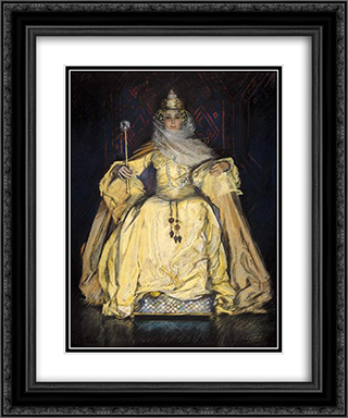 unknown title 20x24 Black or Gold Ornate Framed and Double Matted Art Print by Edwin Austin Abbey