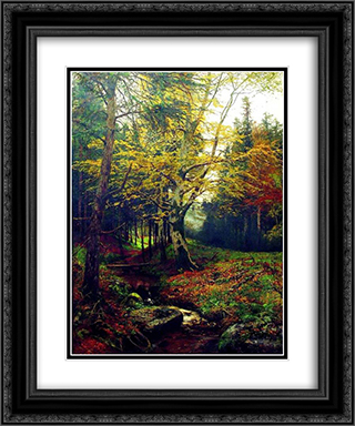 Creek in the Woods 20x24 Black or Gold Ornate Framed and Double Matted Art Print by Efim Volkov