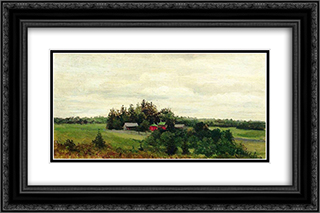Farm 24x16 Black or Gold Ornate Framed and Double Matted Art Print by Efim Volkov