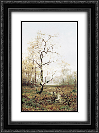 In Forest after Spring 18x24 Black or Gold Ornate Framed and Double Matted Art Print by Efim Volkov