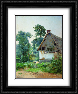 Landscape with an Abandoned House 20x24 Black or Gold Ornate Framed and Double Matted Art Print by Efim Volkov
