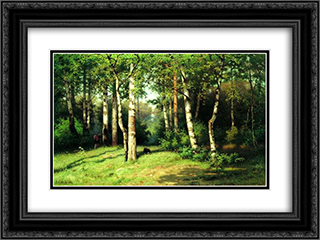 Noon in the Woods 24x18 Black or Gold Ornate Framed and Double Matted Art Print by Efim Volkov