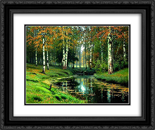 Quiet River 24x20 Black or Gold Ornate Framed and Double Matted Art Print by Efim Volkov