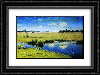 River in Ukraine 24x18 Black or Gold Ornate Framed and Double Matted Art Print by Efim Volkov