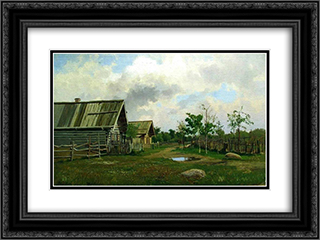 Rural Landscape 24x18 Black or Gold Ornate Framed and Double Matted Art Print by Efim Volkov