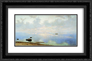 Seascape 24x16 Black or Gold Ornate Framed and Double Matted Art Print by Efim Volkov