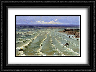 The Sea 24x18 Black or Gold Ornate Framed and Double Matted Art Print by Efim Volkov