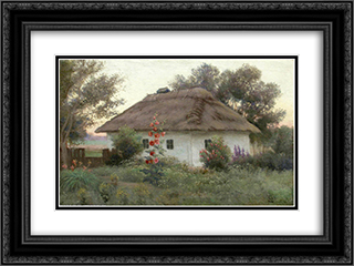 Ukrainian Landscape 24x18 Black or Gold Ornate Framed and Double Matted Art Print by Efim Volkov
