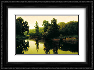 Warm Evening 24x18 Black or Gold Ornate Framed and Double Matted Art Print by Efim Volkov