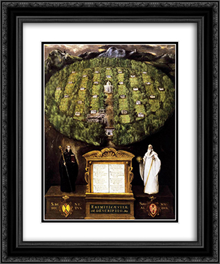 Allegory of Camaldolese Order 20x24 Black or Gold Ornate Framed and Double Matted Art Print by El Greco