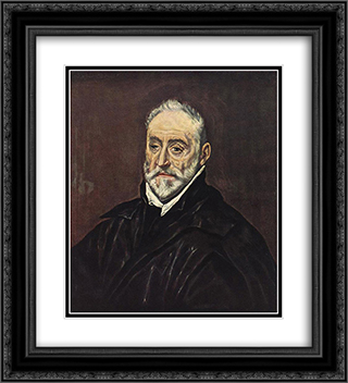 Antonio de Covarrubias 20x22 Black or Gold Ornate Framed and Double Matted Art Print by El Greco