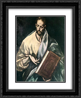 Apostle St. James the Less 20x24 Black or Gold Ornate Framed and Double Matted Art Print by El Greco