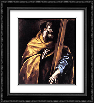 Apostle St. Philip 20x22 Black or Gold Ornate Framed and Double Matted Art Print by El Greco