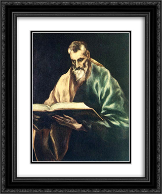 Apostle St. Simon 20x24 Black or Gold Ornate Framed and Double Matted Art Print by El Greco