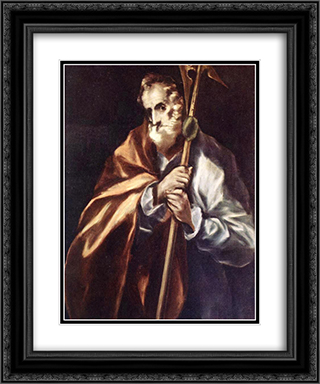 Apostle St. Thaddeus (Jude) 20x24 Black or Gold Ornate Framed and Double Matted Art Print by El Greco