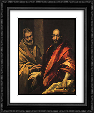 Apostles Peter and Paul 20x24 Black or Gold Ornate Framed and Double Matted Art Print by El Greco