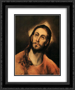 Christ 20x24 Black or Gold Ornate Framed and Double Matted Art Print by El Greco