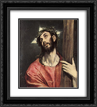 Christ carrying the cross 20x22 Black or Gold Ornate Framed and Double Matted Art Print by El Greco