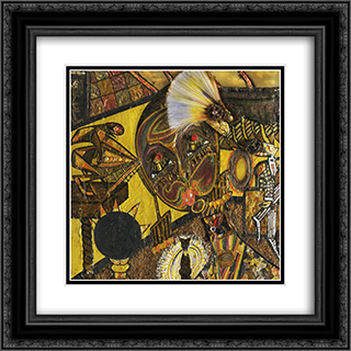 Dada Portrait of Berenice Abbott 20x20 Black or Gold Ornate Framed and Double Matted Art Print by Elsa von Freytag Loringhoven