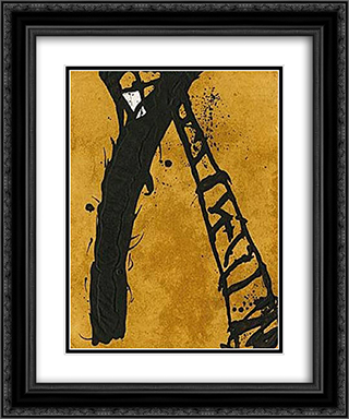 211990 20x24 Black or Gold Ornate Framed and Double Matted Art Print by Emil Schumacher