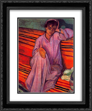 African Woman 20x24 Black or Gold Ornate Framed and Double Matted Art Print by Emile Bernard