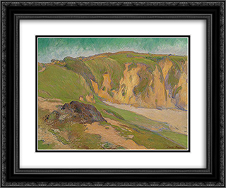 The Cliffs at Le Pouldu 24x20 Black or Gold Ornate Framed and Double Matted Art Print by Emile Bernard