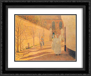 First Communion 24x20 Black or Gold Ornate Framed and Double Matted Art Print by Emile Claus