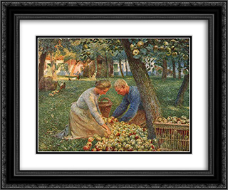 Orchard in Flanders 24x20 Black or Gold Ornate Framed and Double Matted Art Print by Emile Claus