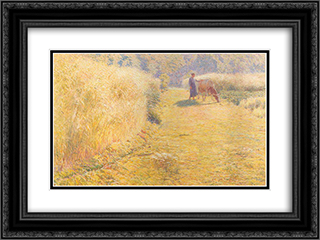 Summer 24x18 Black or Gold Ornate Framed and Double Matted Art Print by Emile Claus