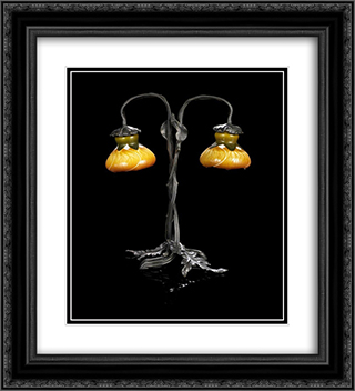 Clematites 20x22 Black or Gold Ornate Framed and Double Matted Art Print by Emile Galle