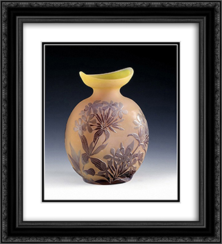 Ovale Vase mit Phlox, Nancy, Frankreich 20x22 Black or Gold Ornate Framed and Double Matted Art Print by Emile Galle