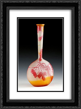 Vase mit Fruchtedekor, Nancy, Frankreich 18x24 Black or Gold Ornate Framed and Double Matted Art Print by Emile Galle