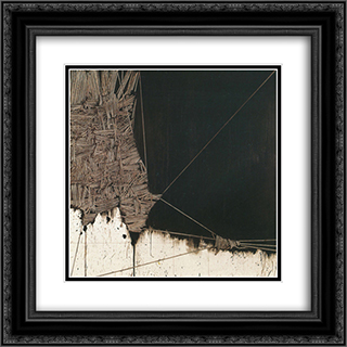 Alfabeto senza fine 7 20x20 Black or Gold Ornate Framed and Double Matted Art Print by Emilio Scanavino