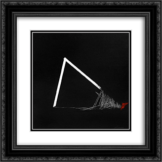 Geometria malata 20x20 Black or Gold Ornate Framed and Double Matted Art Print by Emilio Scanavino