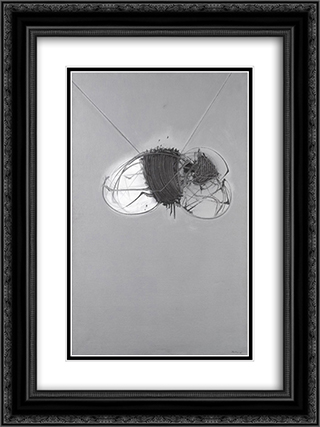 La larva 18x24 Black or Gold Ornate Framed and Double Matted Art Print by Emilio Scanavino