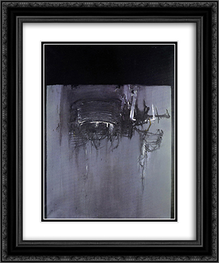 Proiezione 20x24 Black or Gold Ornate Framed and Double Matted Art Print by Emilio Scanavino