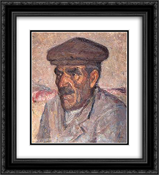 Fisherman 20x22 Black or Gold Ornate Framed and Double Matted Art Print by Emmanuel Zairis