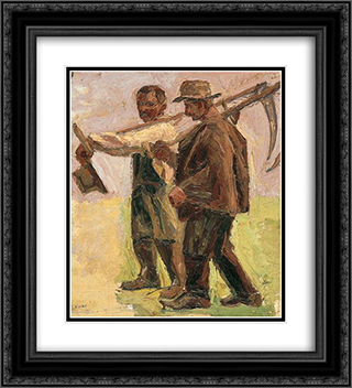 Mowers 20x22 Black or Gold Ornate Framed and Double Matted Art Print by Emmanuel Zairis
