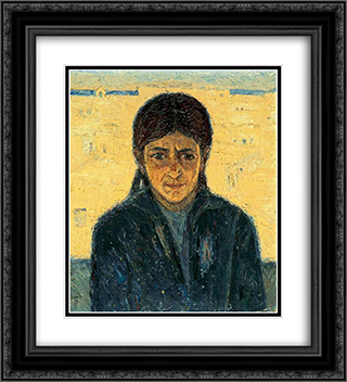 Portrait of Iakoveena 20x22 Black or Gold Ornate Framed and Double Matted Art Print by Emmanuel Zairis