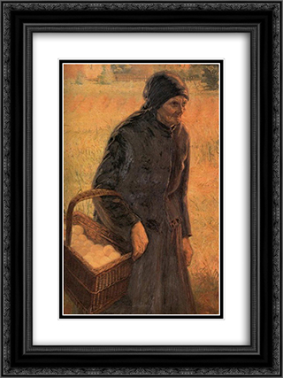 The Old Egg Seller 18x24 Black or Gold Ornate Framed and Double Matted Art Print by Emmanuel Zairis