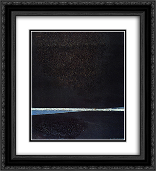 Astrazione plastica X 20x22 Black or Gold Ornate Framed and Double Matted Art Print by Enrico Prampolini