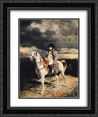 Napoleon I in 1814 20x24 Black or Gold Ornate Framed and Double Matted Art Print by Ernest Meissonier